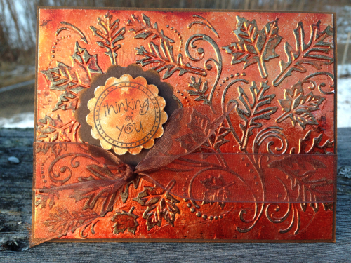 Orange Leaf Card 2